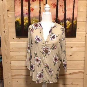 Staccato Tan Floral Blouse